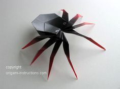 Origami Spider Folding Instructions - How to Make an Origami Spider
