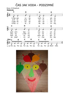 ČAS JAK VODA - PODZIMNÍ Kids Songs, Piano, Preschool, Hedgehogs, Pulley, Children Songs, Songs For Children, Nursery Songs, Kindergarten