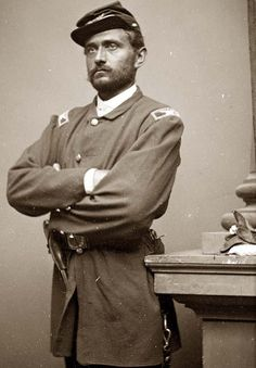 Colonel VanHorne Ellis, 124th New York Infantry. He was a brevet brigadier general in the Union Army during the Civil War, and was killed in action at the Battle of Gettysburg[