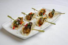 Coriander Groups' Indian canapes, Hors d'oeuvre  - Amritsari Fish Taco