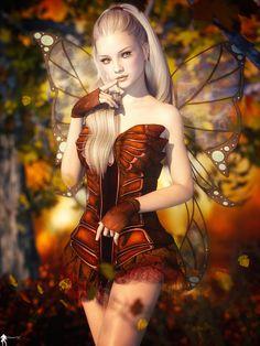 ArtStation - Fée d'Automne 3, Lamuserie antoine #girl #fantasy… #art #female
