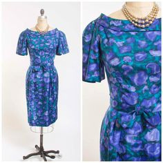 Hey, I found this really awesome Etsy listing at https://www.etsy.com/listing/197882271/1950s-vintage-dress-rhapsody-in-blue