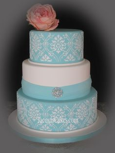 Southern Blue Celebrations: Teal Wedding Cake Ideas