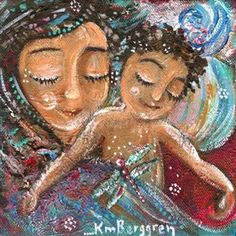 Rest Next To Me - mom toddler curly hair dragonfly print by Katie m. Berggren
