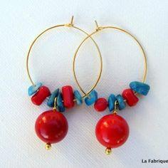 Mes boucles colorées // colored earings