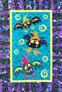 Bat Magic Halloween quilt pattern by Linderella. Cute goofy little bats :) ~rdm