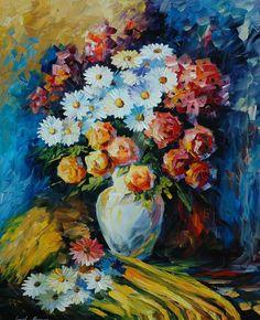 floralart.quenalbertini: Night Bouquet by Leonid Afremov on DeviantArt
