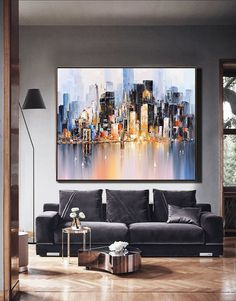 City abstract art painting, Original Urban abstract oil painting, Future New York City Landscape Knife painting, Large wall art oil painting Skyline Painting, City Painting, Fashion Painting, Oil Painting Abstract, Knife Painting, Fashion Art, Cityscape Art, Painting Wallpaper, Watercolor Artists