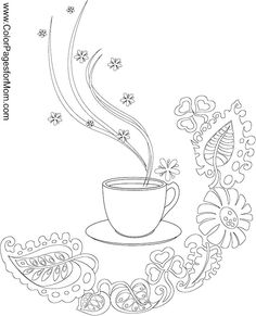 coffee coloring page 3