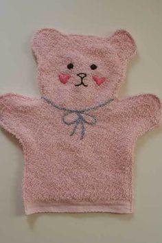 Baby Bath Mit (from a washcloth)