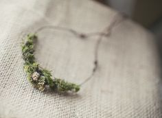 Woodland Newborn halo Photo Prop Moss and flower by GreyBirdNest, $18.00