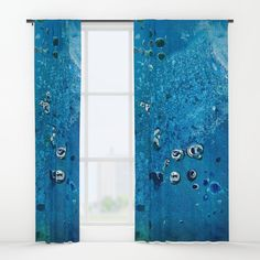 Deep Sea Creatures Dream of Blue Window Curtains by ANoelleJay | Society6 @anoellejay art with @society6