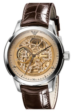 Emporio Armani 'Meccanico' Automatic Round Watch available at Nordstrom...so cool