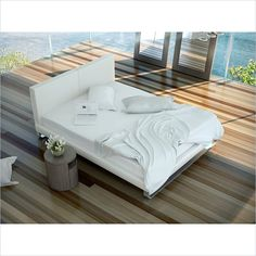 Modloft Chelsea Bed in White Leather - MD331-XX-WHT