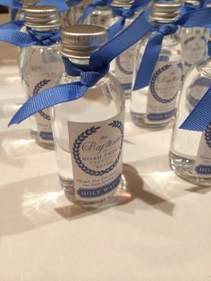 Holy Water Favors -Noah's Christening May 4th #christening #boy christening #baptism