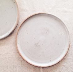 6-piece set of minimalist dinner plates wheelthrown stoneware six large ceramic plates gray pottery dinnerware simple grey tableware  sc 1 st  Pinterest & White pastry plate small wheelthrown porcelain plate minimalist ...