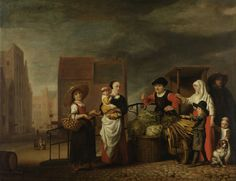 Nicolaes Maes Vegetable Market ca 1655 - 1665