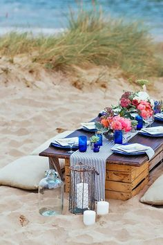 Summer Outdoor Picnic Wedding Ideas 24