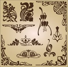 орнаменты ар нуво