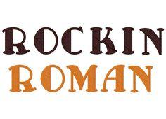 """RockinRomanXXX  Uppercase, Lowercase, Numbers and Bonus Punctuation  Sizes: 1"""" 2"""" & 3"""""""