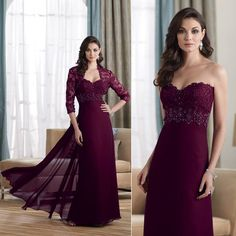 Stunning Plum Colored Dresses for You to Wear! Plum Colored Dresses, Colored Wedding Dresses, Plum Dresses, Burgundy Dress, Wedding Gowns, Bridesmaid Dresses, Chiffon Evening Dresses, Maxi Gowns, Lace Chiffon