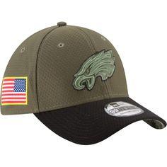 New Era Men s Philadelphia Eagles Salute to Service 2017 39Thirty Flex Fit  Hat ce238eb7c