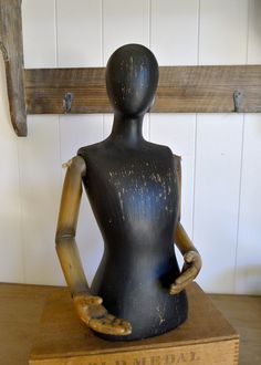 Gilly- Vintage Style Resin Wood Industrial Mannequin form - Steampunk, Victorian, Organic. $59.90, via Etsy.