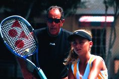 August 2002 - One of many private lessons with Nick Bollettieri at his court.