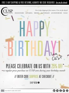 Happy Birthday! ♥, CUSP - CUSP
