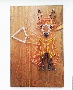 """Животные ручной работы. Ярмарка Мастеров - ручная работа. Купить Картина """"ЛИС"""". Handmade. Стринг арт, ручная авторская работа"""