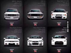 The Nissan GTR generation.