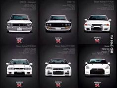 The Nissan GTR generation..... First two arw the best if you ask me