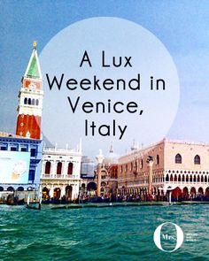 One can never have too much Italy in one's life! And Venice is a perfect city to celebrate romance and love