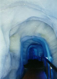 Mt. Titlis ice caves in Swizterland