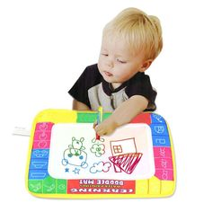 Obliging Large Magic Water Drawing Mat Painting Doodle Mat Kids Toy Xmas B-day Gift Au Other Educational Toys