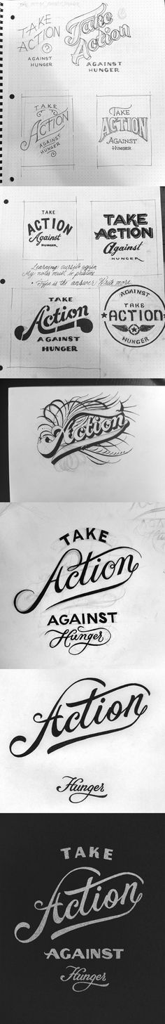 Take-action typography exploration