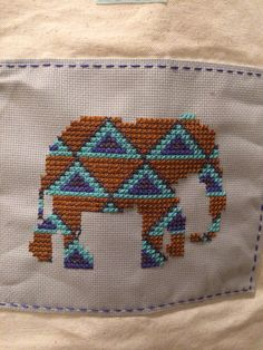 Canvas elephant tote