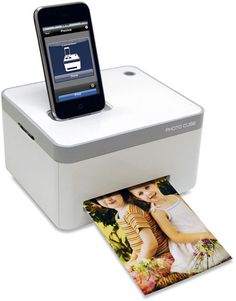 GETTING ONE FOR MY BIRTHDAY-YEA FOR ME! iPhone-Photo-Printer.jpg 508×650 пиксел.  Cube can print 4 x 6 borderless images directly from your device. This high quality printer prints crystal-clear 300 dpi resolution pictures with vibrant colors. It's about the size of a tissue box and it can also charge your iDevice. Price: $160 VuPoint IP-P10-VP Wireless Color Photo Printer: awesome!