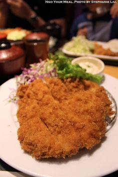 Chicken Katsu at Ganko Tonkatsu Namba in Osaka, Japan