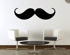 I think I need this!!!  Vinyl Wall Decal Mustache Wall Decal Menu by Zapoart on Etsy, $24.00