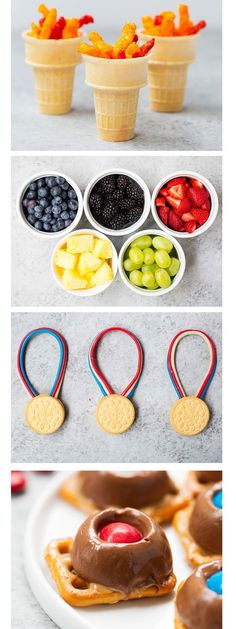 Love these snack and dessert ideas for the Olympics! So fun!