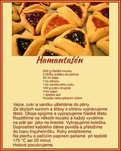 Hamantašén Christmas Candy, Christmas Cookies, Hot Dog Buns, Hot Dogs, Food And Drink, Bread, Cake, Ethnic Recipes, Tiramisu