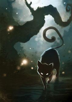 47 New Ideas Creepy Drawings Dark Art Demons Paintings Eyes Wallpaper, Black Cat Art, Black Cats, Image Chat, Warrior Cats, Cat Drawing, Halloween Cat, Alice In Wonderland, Cats And Kittens