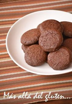 Beyond gluten .: Almond Cookies and Ch / # there # biscuits # Gluten Free Deserts, Gluten Free Cakes, Dairy Free Recipes, Healthy Desserts, Chocolate Sin Gluten, Chocolate Pudding Desserts, Healthy Cookies, Healthy Sweets, Empanadas