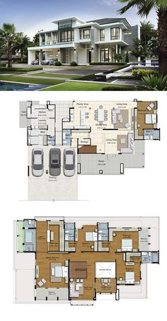 46 Ideas House Plans Sims Dream Homes 46 Idee Piani casa Sims Dream Homes Modern House Floor Plans, Contemporary House Plans, Luxury House Plans, Dream House Plans, Modern House Design, House Plans Mansion, Sims House Plans, House Layout Plans, House Layouts