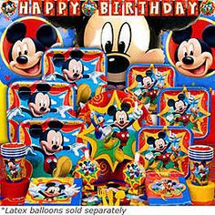 Mickey Party | Mickey Birthday Party Supplies & Decorations at Birthday in a Box