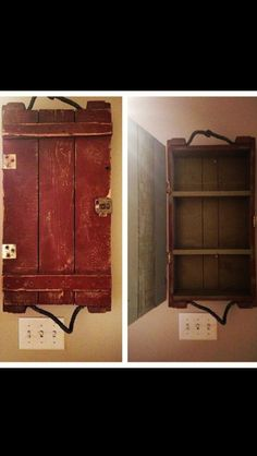 Old vintage army ammo case turned into a cabinet. Wooden Trunks, Wooden Crates, Wooden Projects, Home Projects, Trunk Makeover, Ammo Cans, Gun Rooms, Repurposed Items, Construction Design