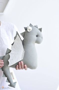 Stuffed Dragon Toy, Expecting Mom Gift for Baby Girl Nursery Decor - Stuffed Dragon Toy Gray Dragon Gray Toy Gray Silver - Toddler Gifts, Toddler Toys, Baby Toys, Hand Craft Work, Expecting Mom Gifts, Baby Christmas Gifts, Baby Girl Nursery Decor, Fabric Toys, Sewing Toys