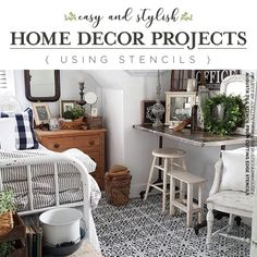 Stencil Patterns Make DIY Decorating Easy and Affordable  Good morning, my Cutting Edge Stencils fans. Our creative stencil fans have been wow'ing us all week with DIY home decor crafted using our stencil designs! Let's take a look at some impressive DIY home decorating projects using ou