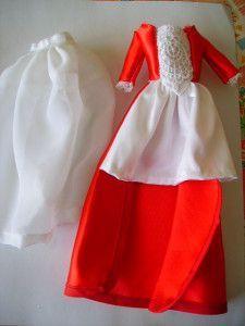 Barbie dress with free pattern  robe de princesse orange 008